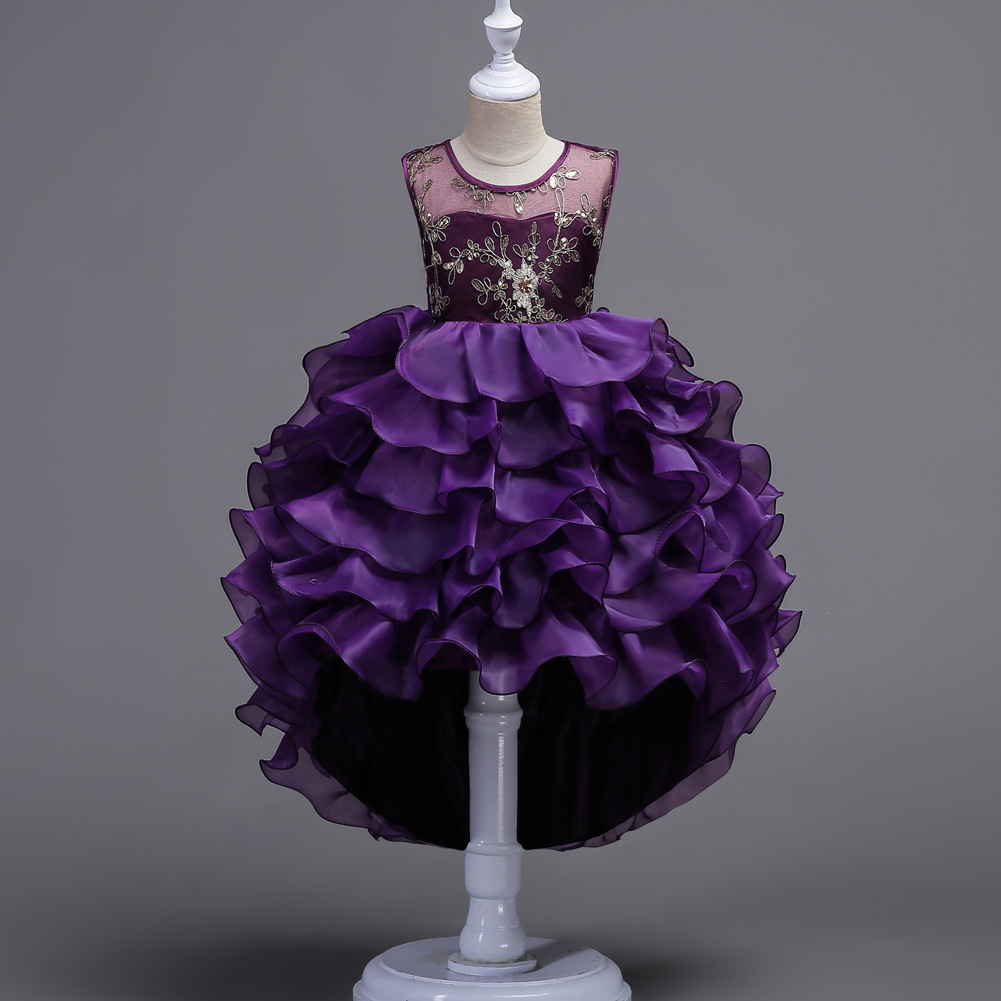 0584c5718 Cutestyles Purple Dresses For Girls Fancy Childrens Summer Dresses ...