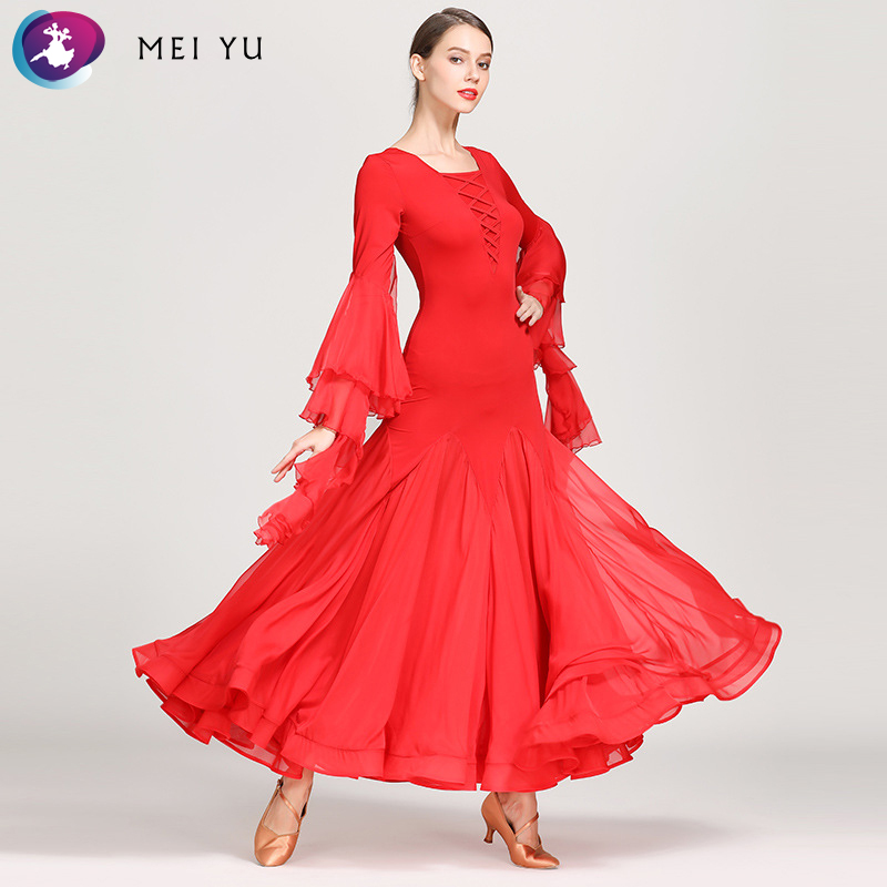 Mei Yu 1866 Moderne Dans Kostuum Vrouwen Dames Dancewear Waltzing Tango Dansen Jurk Ballroom Kostuum Avond Party Dress Goed Voor Energie En De Milt