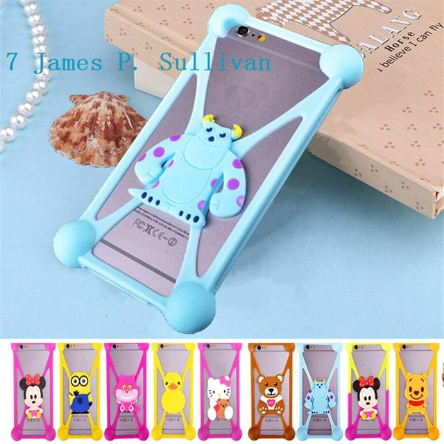 Cute Cartoon Silicone Universal Cell Phone Holster Case For Vodafone