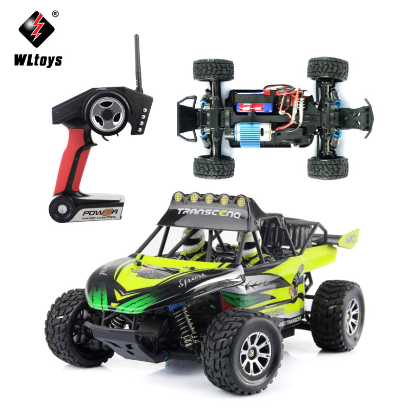 WLTOYS K929 Remote Control Cars 1:18 50km/h High-speed Desert 4WD Off-Road Vehicle Buggy RC Racing Car Toys EU Plug huanqi 739 high speed rc cars 1 10 scale 2 4g 2wd 42km h rechargeable remote control short truck off road car rtr vehicle toy