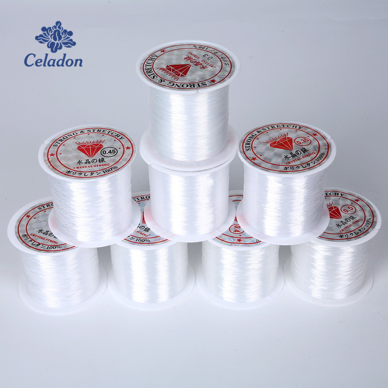 0.2/0.25/0.3/0.35/0.4/0.45/0.5/0.6mm 1 Roll Fish Line Wire Clear Non-stretch Strong Nylon String Beading Cord Thread Jewelry DIY(China)