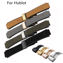 TJP Brands Mens 25*19 Mate Genuine leather + Silicone Rubber Watch Strap Watchbands For HUBLO BIG t BANG Watch With Clasp Word