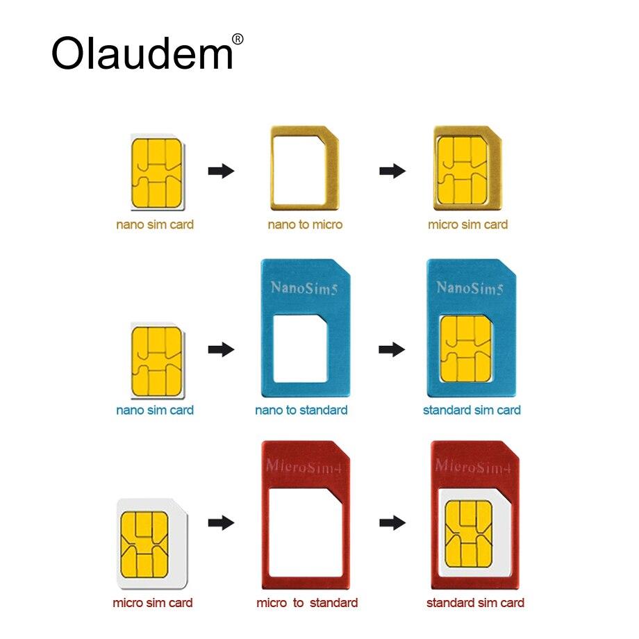 4 Dans 1 Nano Sim Adaptateurs Pour Cartes Micro Sim Stander Sim Carte Sim Carte Adaptateur Ejection Pin Pour L Iphone 4 4 S 5 5 S 6 6 S Sadt838 Aliexpress