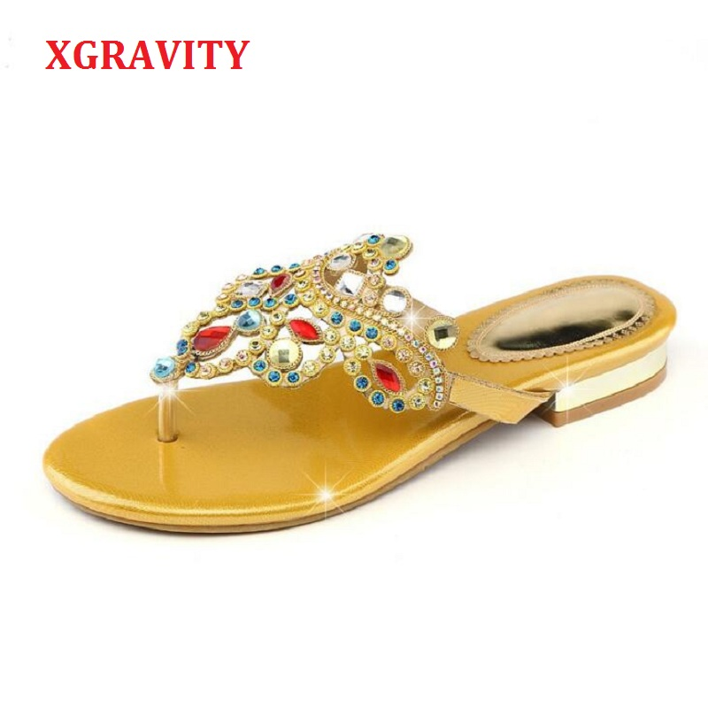 XGRAVITY New Ladies Casual Luxury Shoes Sexy Crystal Rhinestone Design Women Sandals Hot Ladies Genuine Leather Flat Shoes B012XGRAVITY New Ladies Casual Luxury Shoes Sexy Crystal Rhinestone Design Women Sandals Hot Ladies Genuine Leather Flat Shoes B012