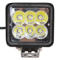 1Pair 3 Inch 1530LM 12V 24V 18W Waterproof Square LED Car Work Light For Motorcycle Tractor