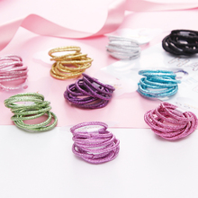 PjNewesting 10PCS/Lot Girls Colourful Elastic Hair Band Tie Gum For Scrunchies Rubber Band Ponytail Holder Kids Hair Accessories