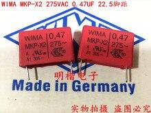 2019 hot sale 10pcs/20pcs Germany WIMA MKP-X2 275VAC 0.47UF 275VAC 474 P: 22.5mm Audio capacitor free shipping цена