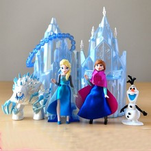6 шт./лот Снежная королева Олаф Вендиго виниловая кукла милый замок Фигурки игрушки