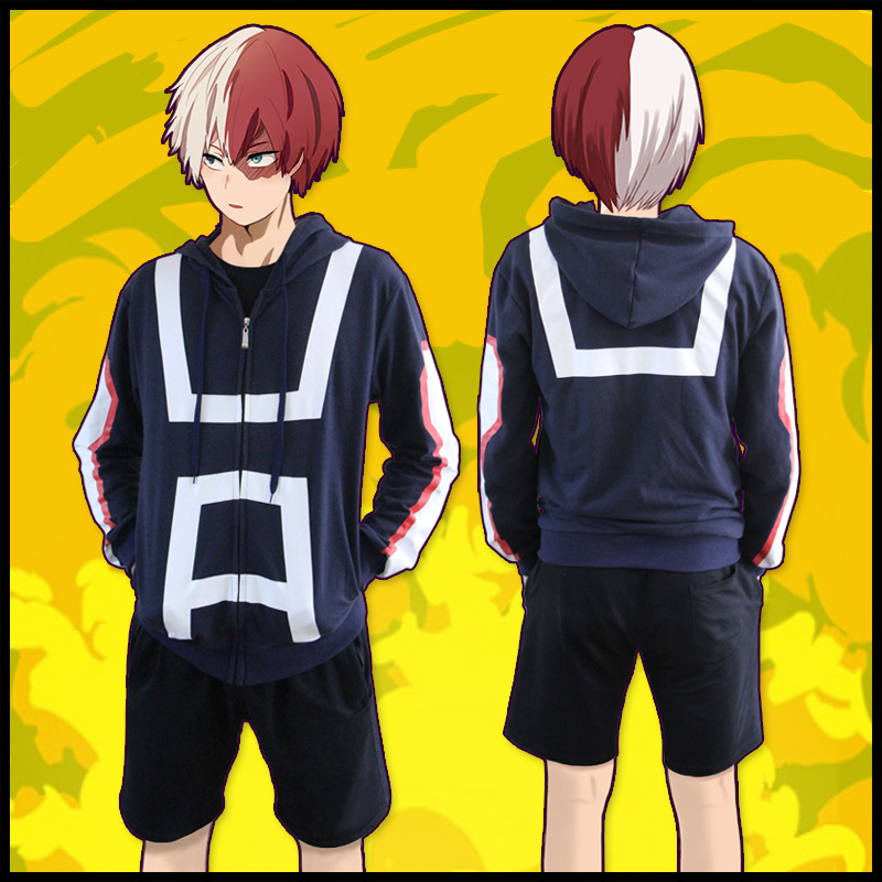 Anime hoodie <font><b>My</b></font> <font><b>Hero</b></font> <font><b>Academia</b></font> <font><b>bakugo</b></font> katsuki <font><b>cosplay</b></font> costume Zipper Jacket Coat <font><b>Cosplay</b></font> Costume Sweatshirt Hooded image