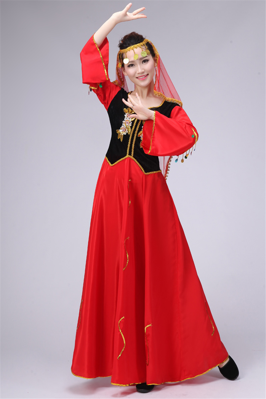 [Zorro Kni ght] Brands Xinjiang Ethnic Dance 2018 New Uygur Ethnic