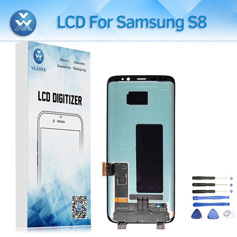 Super AMOLED LCD Display for Samsung Galaxy S8 G950 SM-G950F LCD Screen Touch Digitizer Assembly Pantalla 5.8+Tool