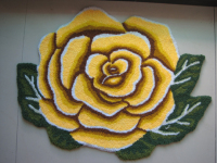 National Free Shipping Yellow Single Rose Carpet Mats Ottomans Doormat 80 60 Bedroom