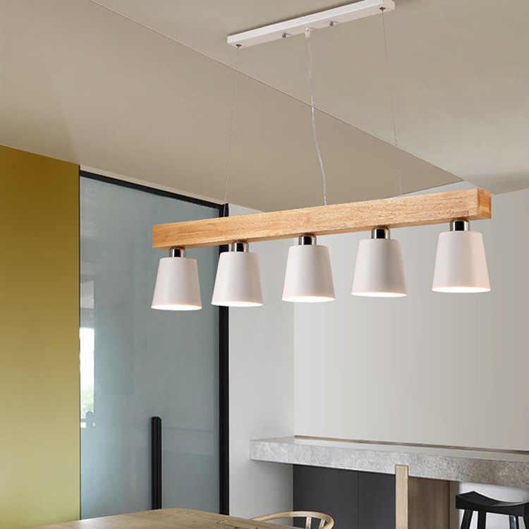 Белая Люстра потолочная лампа из дуба Современная Скандинавская японская Подвесная лампа Lustre Avize домашняя спальня гостиная салон
