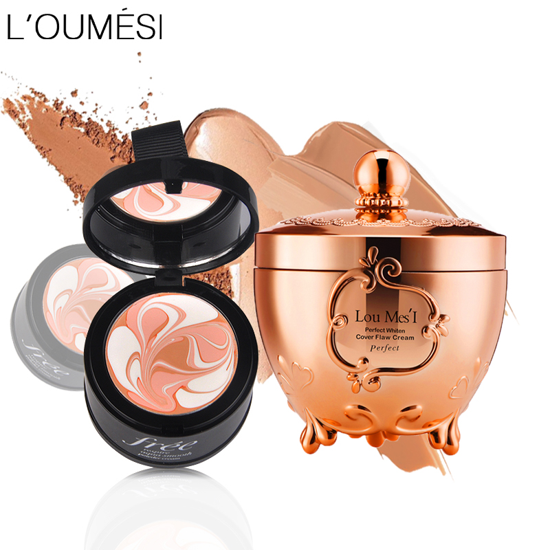 Loumesi concealer cream full cover face foundation Eye Dark Circles Cream Face Corrector Waterproof Make Up Base Cosmetic image