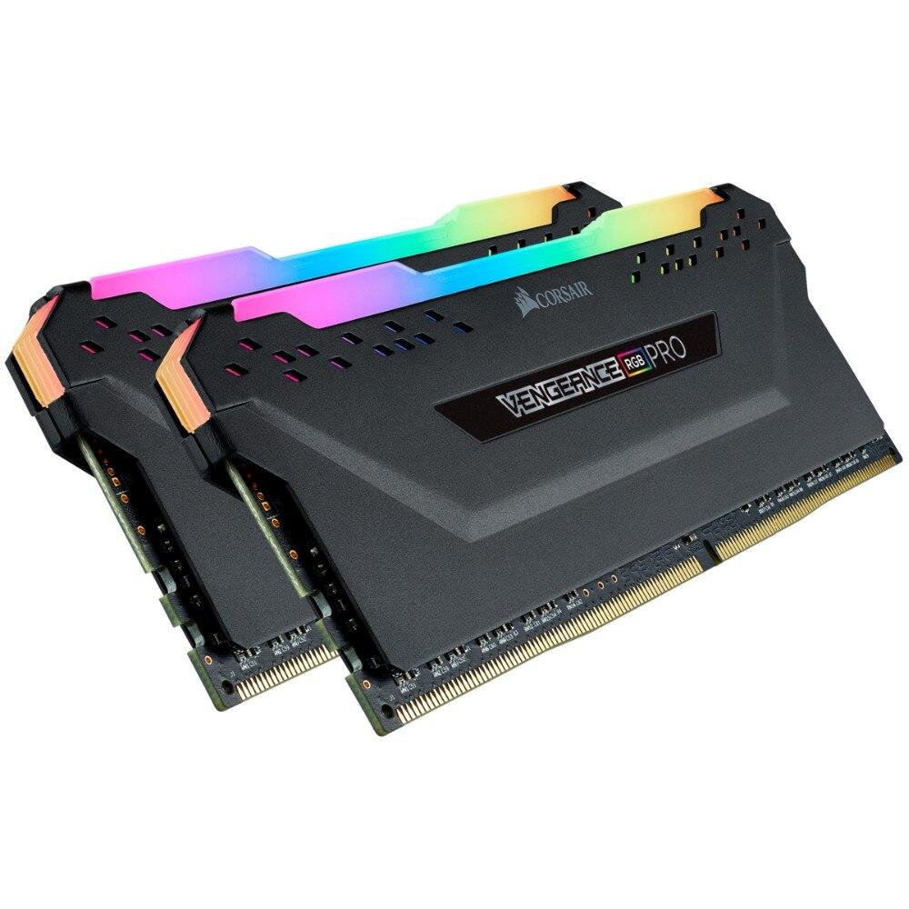 CORSAIR RGB PRO 16GB 32GB 2 pièces double canal DDR4 RGB PRO 3000MHz 3200 MHZ 3600MHz DIMM ordinateur de bureau de mémoire Support carte mère