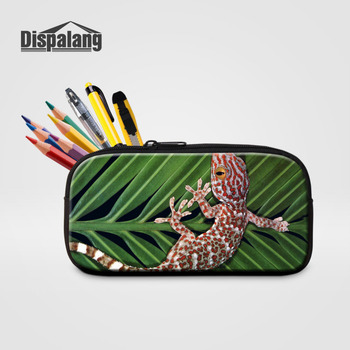 Dispalang Cosmetic Cases Lizard Printing Women Makeup Bag Kids Pencil Bags Office School Supplies Bts Stationery Gift Pencilcase фото