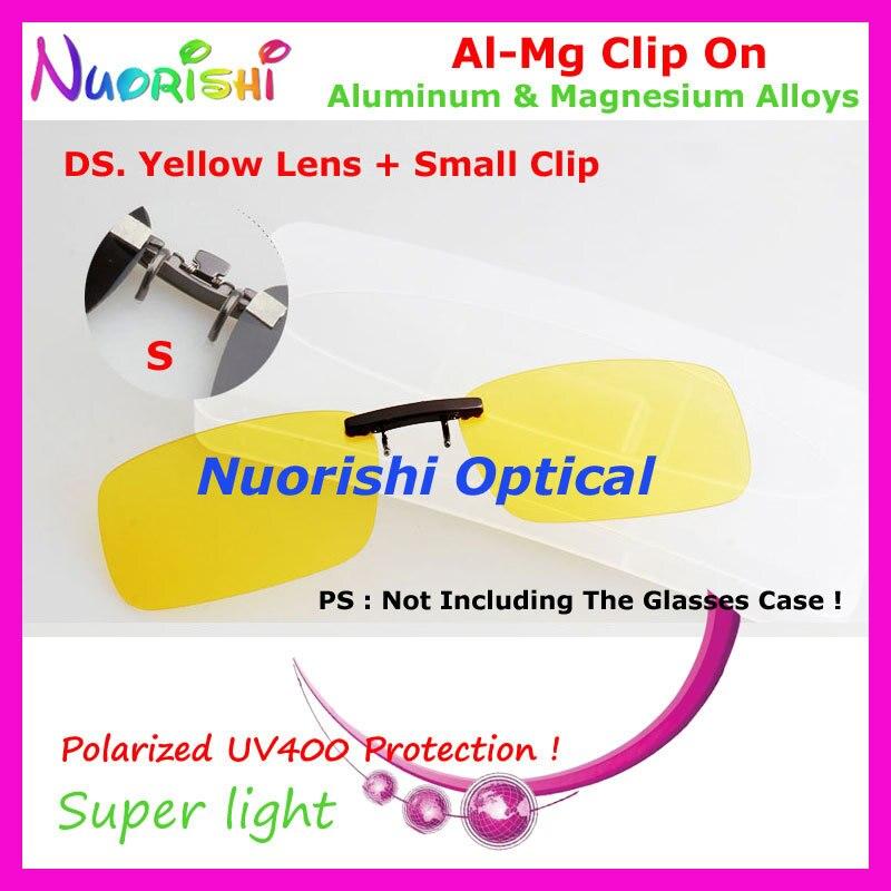 10 шт. сплава al-mg поляризованные Очки очков 7 цветов UV400 линзы клип на для малого и среднего Размеры зажимы cp07 - Цвет линз: DS Yellow
