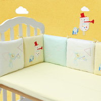 6Pcs Pack Baby Bed Bumper Infant Bed Cot Bumper Bed Protector Breathable Baby Crib Protector Cushion