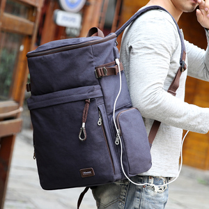 Image 4 - Muzee Brand Vintage backpack Large Capacity men Male Luggage bag canvas travel bags Top quality travel duffle bag