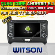 WITSON Android 5.1 CAR DVD GPS For AUDI TT Capacitive touch screen Qual-core android car dvd 16GB Rom car audio player gps