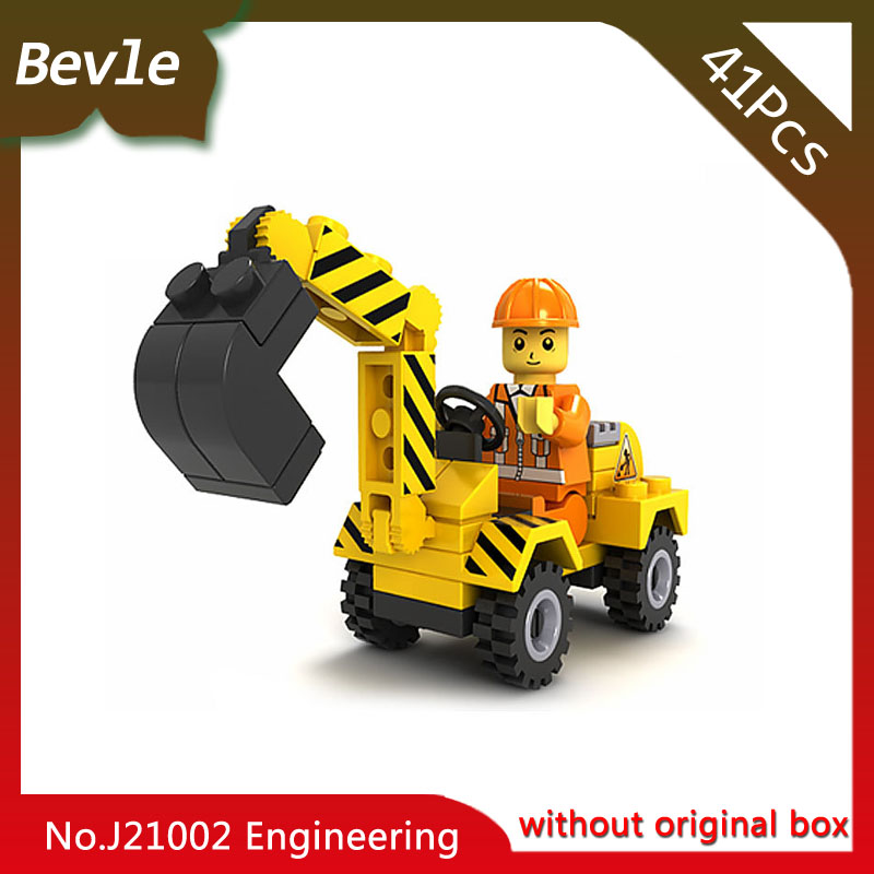все цены на Bevle Store LEPIN 21002 41Pcs Engineering Series Excavator Model Building Blocks set Bricks For Children Toys jie Star Gift