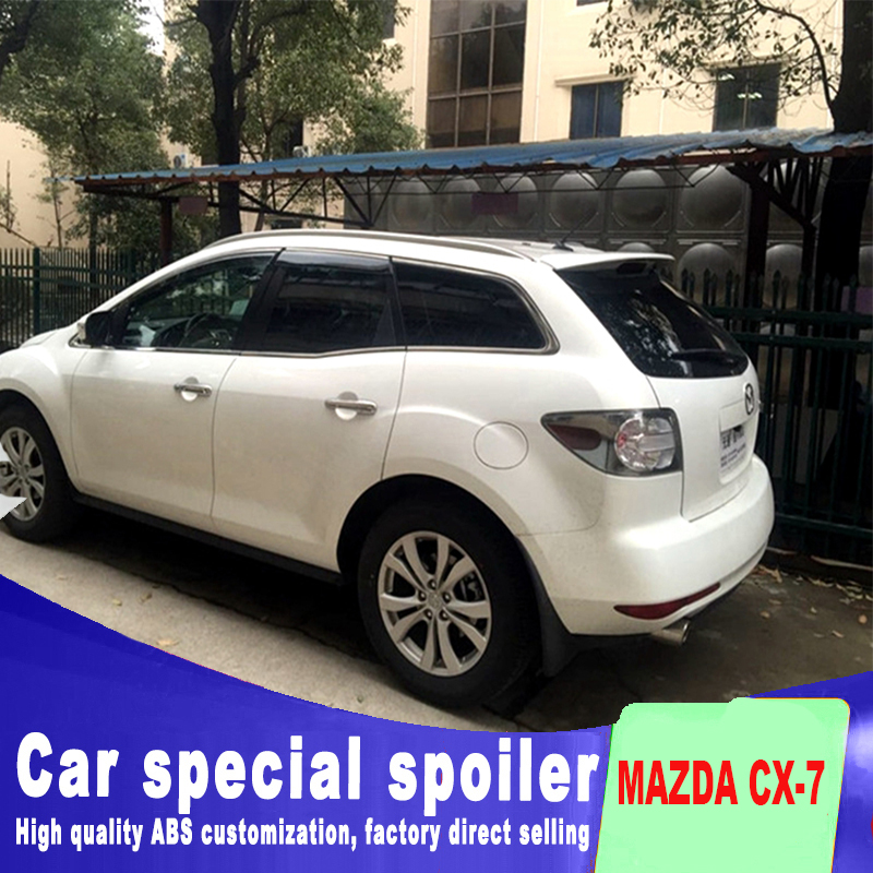 2006-2013 for Mazda CX-7 Spoiler high quality ABS Material Car Rear Wing Primer Color Rear Spoiler for mazda CX-7 spoilers for mazda cx 5 spoiler high quality abs material car rear wing primer color rear spoiler for mazda cx 5 spoiler 2013 2017
