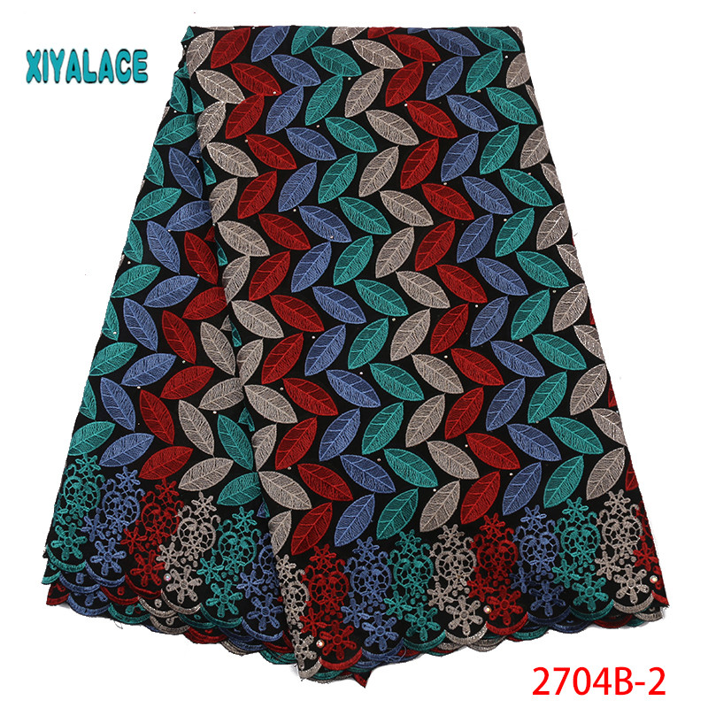 2019 High Quality Swiss Voile Lace In Switzerland Pretty 100% Cotton Swiss Voile Laces For African Sewing Lace YA2704B-2