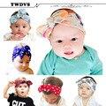 Twdvs diadema headwear de la muchacha de flor del bebé recién nacido infantil del niño del cabrito accesorios para el cabello chica pelo de la venda elástico del bautizo kt034