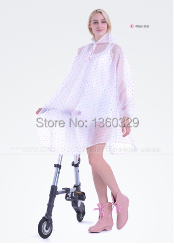 Fashion Womens Long Raincoats Dots Motorcycle Poncho Women Rainwear Waterproof Girls Clothes burbe rry Women Cloak Free Shipping