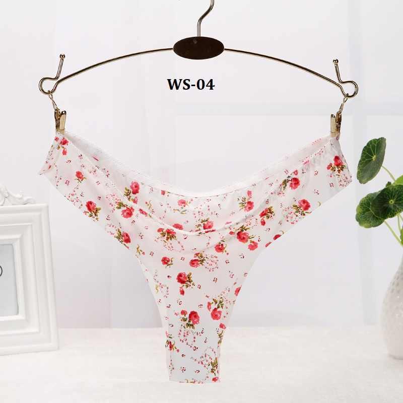 74a43e78bac0 ... 1pcs Floral Brazilian Bikini Panties Briefs for Women Sexy Thongs  Women's Seamless Underpants Underwear Female Calcinha ...