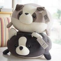 Candice guo! super cute plush toy cartoon fat dog husky puppy ball soft stuffed doll cushion pillow birthday Christmas gift 1pc