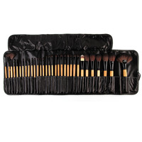 Wholesale Price! 32 pcs professional Cosmetic Facial Make up toiletry Brushes Kit Makeup pinceau Brush Tools Free Shipping