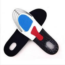 Silicone Shoe Insoles Free Size Men Women Orthotic Arch Support Sport Shoe Pad Soft Running Insert Cushion(China)