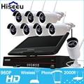 10 Pulgadas Visualizador 8CH 960 P NVR Sistema CCTV Inalámbrico Inalámbrico Cámara IP IR-CUT Bala CCTV Seguridad Para El Hogar Sistema de CCTV Kits hiseeu