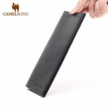 Camelbong 2017 Cowhide Leather Male Long Wallets With Card Holder Soft Purse Business Casual Clutch For
