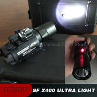 Airsoft Element Surefir X400 Tactical Light Red Laser Lamp Tactical Flashlight X400U Weapon Picatinny Airsoft Gun Light EX367