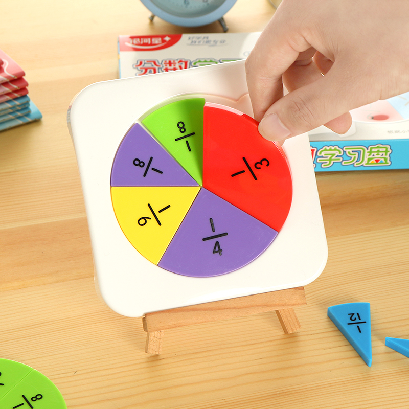 Elementary Mathematics Fractional Problem Demo Props Fractional Graphic Presentation Panel Children Learning Education Math Aids