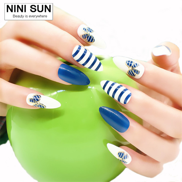 2017 False Nails French Nep Nagels Fake For Nail Art Design Tips Faux Ongles