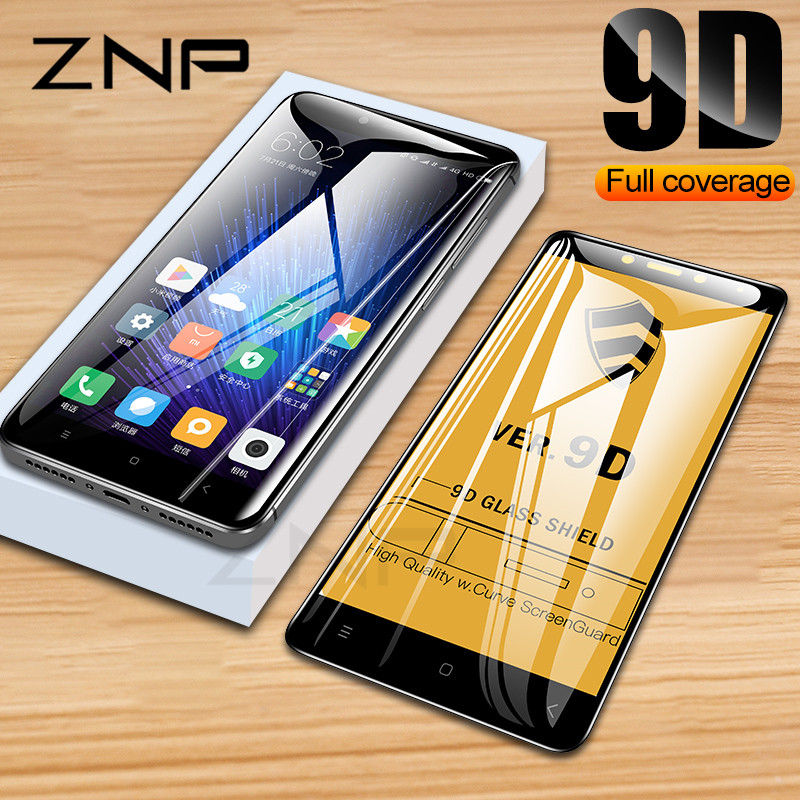 ZNP 9D Full Cover Tempered Glass For Xiaomi Redmi Note 6 5 Pro 6A Screen