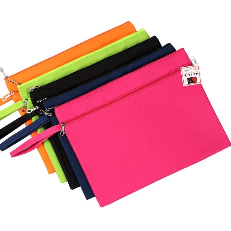Dumei A4 Double-Deck Oxford Zipper Paper File Folder Book Pencil Pen Document Bag File Pocket Office School Supplies NF-133