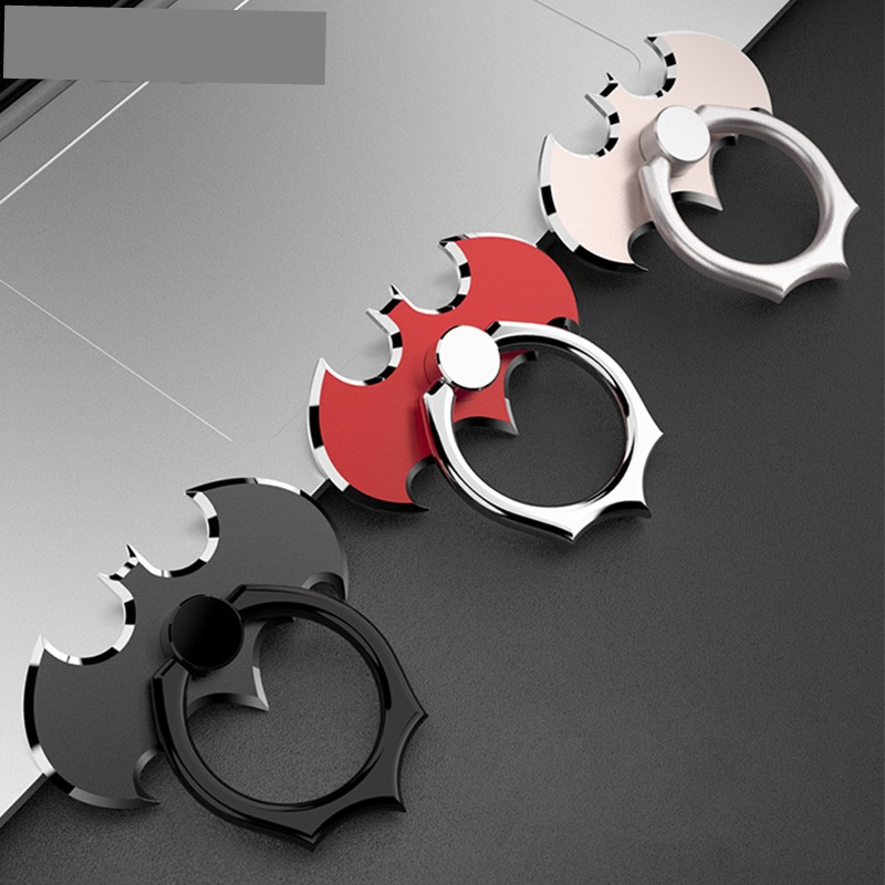 Luxury Batman Aluminum Metal Universal Finger Ring Smartphone Mobile Cell Phone Hand Desk Stand For IPhone 8 7 Xiaomi Mi8 Holder