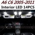 14 unids X envío gratis Free Error Kit de LED Luz Interior Paquete para Audi A6 C6 2005-2011