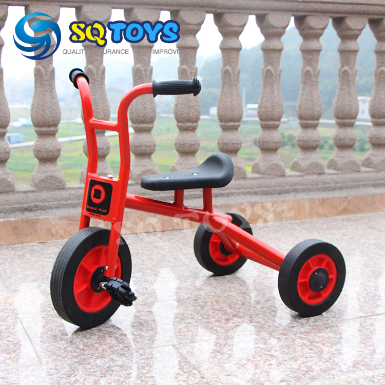 ФОТО Indoor and Outdoor Red  Kids Simple Tricycle New Style Fitness Three  Wheels Pedal for Children Safte Baby Tricycle