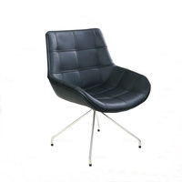 Deluxe PU Leather Leisure Chair Home Casual Chair