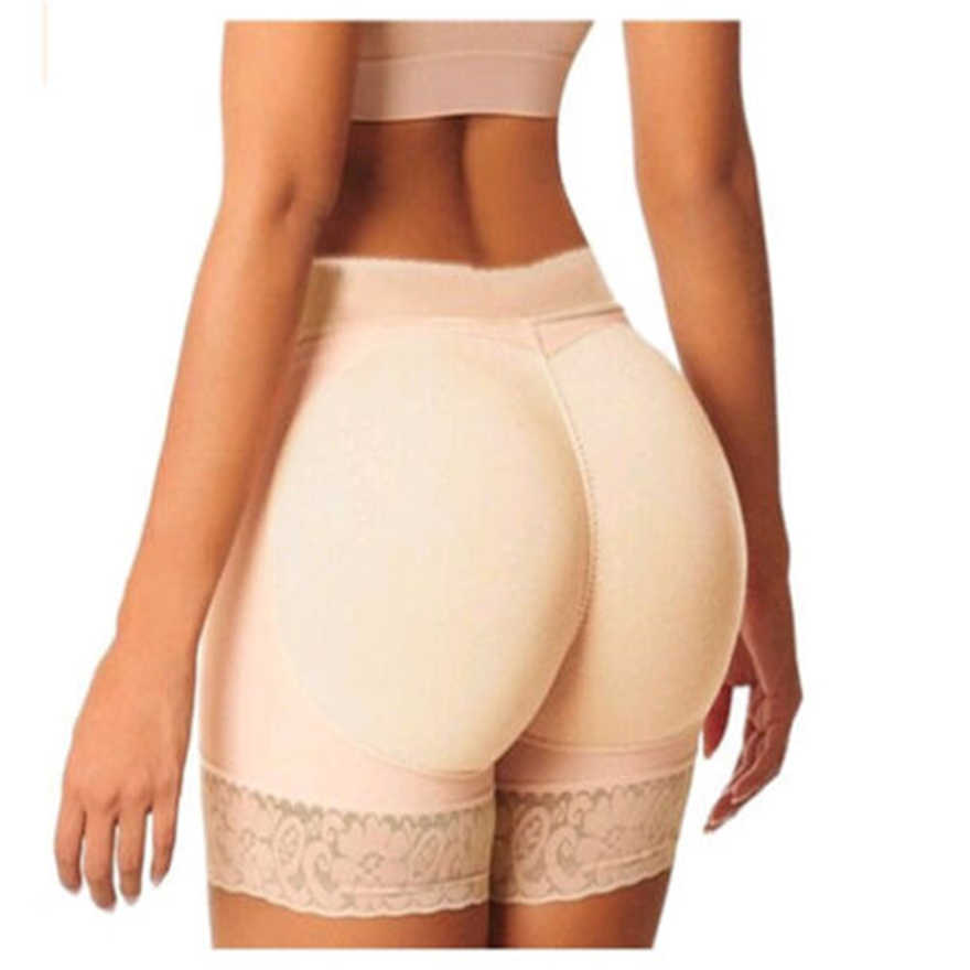 Plus rozmiar kobiet tyłek Booty podnośnik Shaper Bum spodnie do podnoszenia pośladki wzmacniacz szorty figi krótkie spodnie bezpieczeństwa