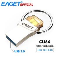EAGET CU66 Type C USB Flash Drive 64GB 32GB 16GB Pendrive Mini Portable Storage For Smart