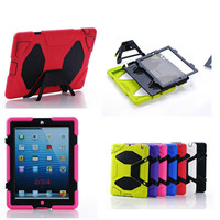 Luxury Shockproof Drop Proof Anti Dust PC Silicone Case For IPad 2 3 4 Tablet Case
