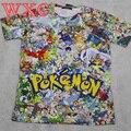 Pokemon T-shirt Short Sleeve Pinted 3D Pikachu Women Tops Cosplay Anime Tops Tee Cartoon Cool Shirt WXC