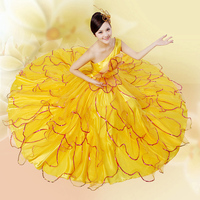 Flamenco Dance Costume Expansion Dress Modern Dance Performance Wear Petal Skirt Spanish Flamenco Dress