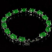 Free Shipping  Natural green jade inlay Bracelet Fashion jewelry bracelets for women femme Two kinds of colors Optional